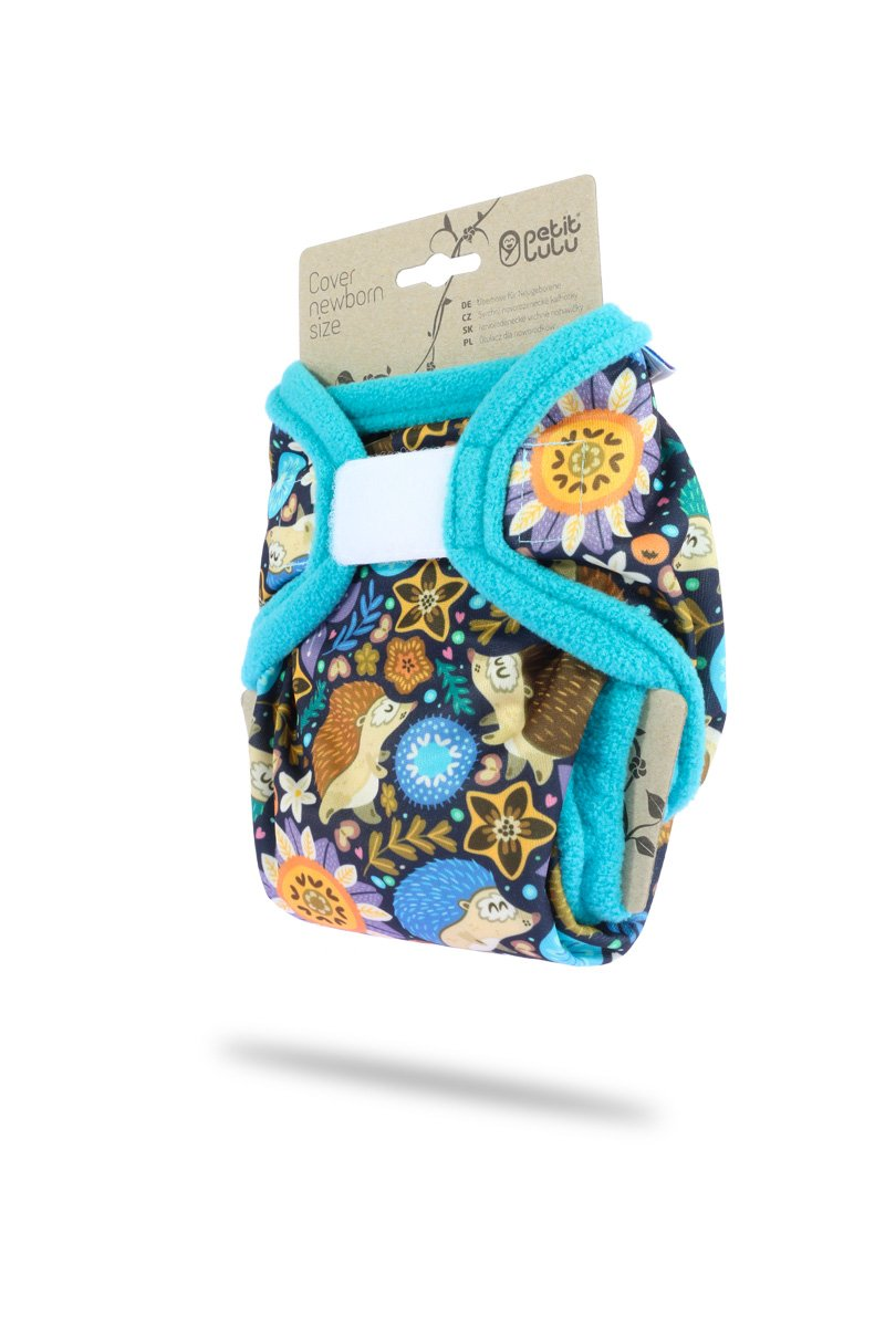 Petit Lulu Cloth Nappy Cover Made in Europe 3 Sizes Cloth Nappies Hook /& Loop Washable Diaper Wrap Dragonflies, XL