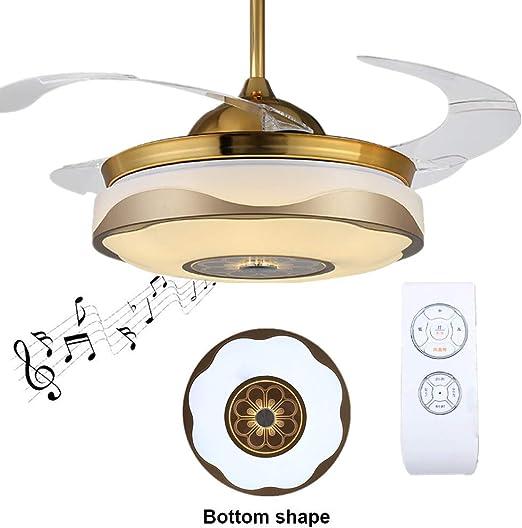 Lámpara de techo Regulable con altavoz Bluetooth Luz de techo para ...