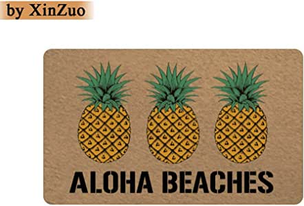 XinZuo Entrance Doormat Aloha Beaches Indoor Outdoor Door Mat Non-slip Doormat 18 by 30 Inch Machine Washable Non-woven Fabric