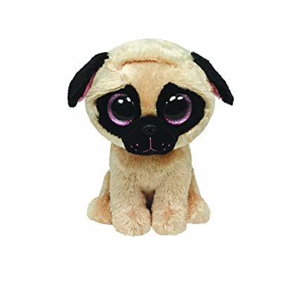 "Ty Beanie Boos Pugsly Dog 6"" Plush: Toys & Games"
