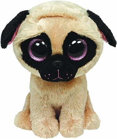 Ty 7136079 - Perro de Peluche (13x4x4 cm) (36079) - Peluche Beanie Boos Pugsly Dog (15 cm), Peluche: TY 7136079 - Pugsly - Mops hellbraun, 15 cm, Beanie Boos, Glubschis: Amazon.es: Juguetes y juegos