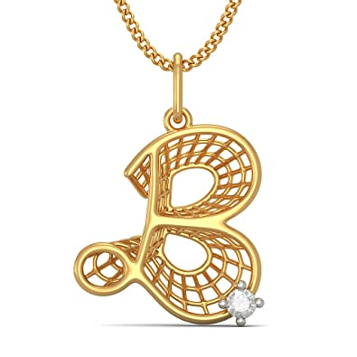 lane gold ruby encrusted b king item treasures diamond white letter necklace pendant davids