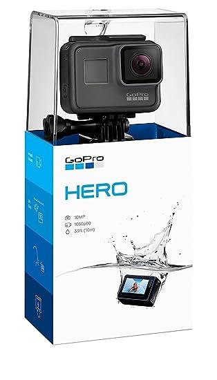 GoPro Hero (2018) - Videocámara de acción (10 MP, vídeo 1080p, resistente y sumergible hasta 10m sin carcasa, pantalla táctil de 2