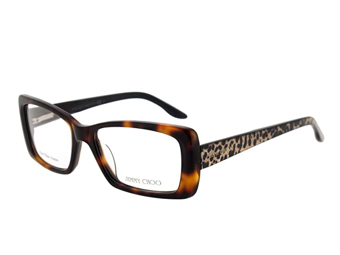 338ae88b47d1 Image Unavailable. Image not available for. Colour  JIMMY CHOO Women s  Prescription Eyewear Frame Brown Avana con aste leopardate Woman