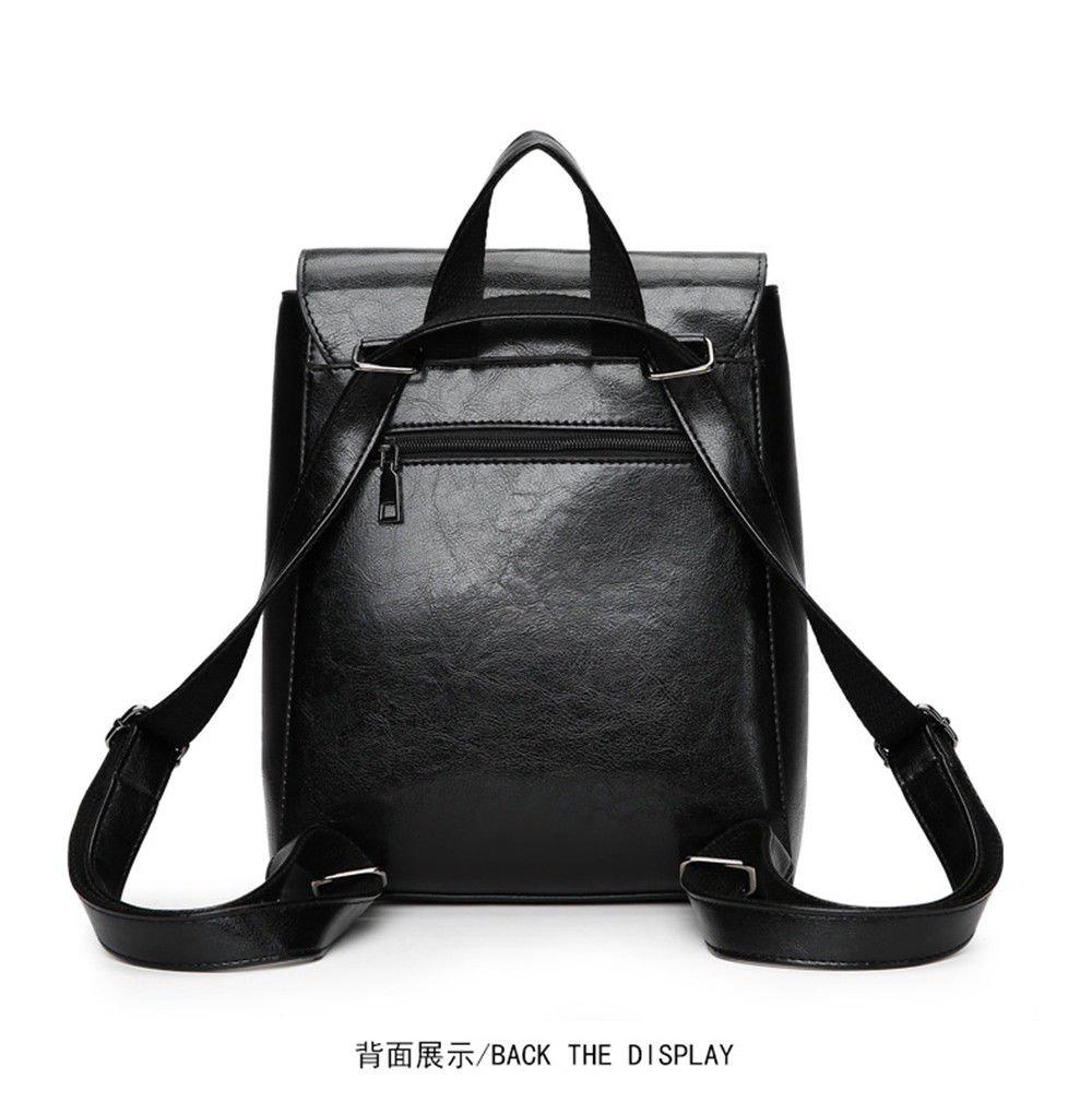 SJMMBB Multi-Functional Backpack Fashion Student Bag,Black,29X23X12Cm by SJMMBB (Image #3)