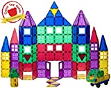 Toys : Playmags 100 Piece Super Set: With Strongest Magnets Guaranteed, Sturdy, Super Durable with Vivid Clear Color Tiles. 18-piece Clickins Accessories to Enhance your Creativity