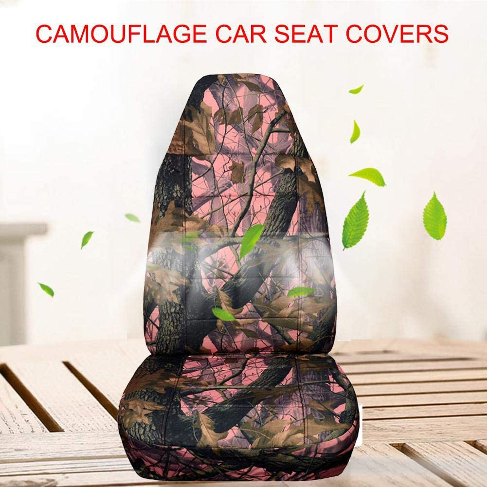 set Universal Camouflage Car Seat Cover Front Rear Seat Car Seat Cushion for SUV Off-Road Vehicles,Orange 4pcs