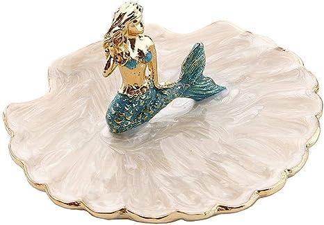 Jewelry Dish Trinket Dish Wood Beach Ocean Resin Art Tray crystal display crystal holder