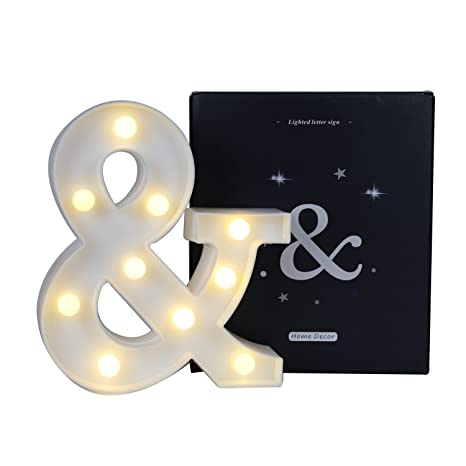 Amazon Com Delicore Ampersand Symbol Marquee Letter Lights Alphabet
