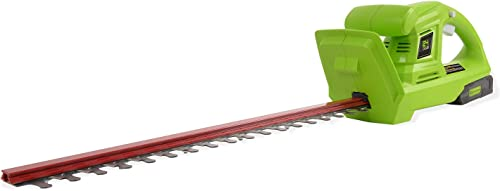 Greenworks 20-Inch 24V Cordless Hedge Trimmer with 2.0 AH Battery Included HT24B211