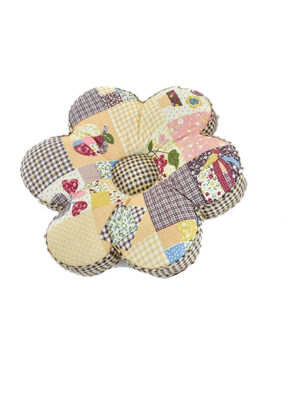 Lotus Karen Flower Shape Kids Floor Pillow Sweet Korean Floral Seating Cushion Decorative Super Soft Comfortable 100% Cotton Chair Cushion16x16 inches