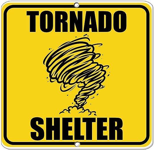 HNNT Señal de Metal de 8 x 12 Pulgadas, Refugio Tornado de ...