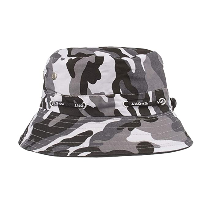 b11a5980 Sunscreen Men Women Bucket Hat CapAdjustable Cap Camouflage Hats Mens  Fisherman Panama Cotton Simple Hats at Amazon Women's Clothing store: