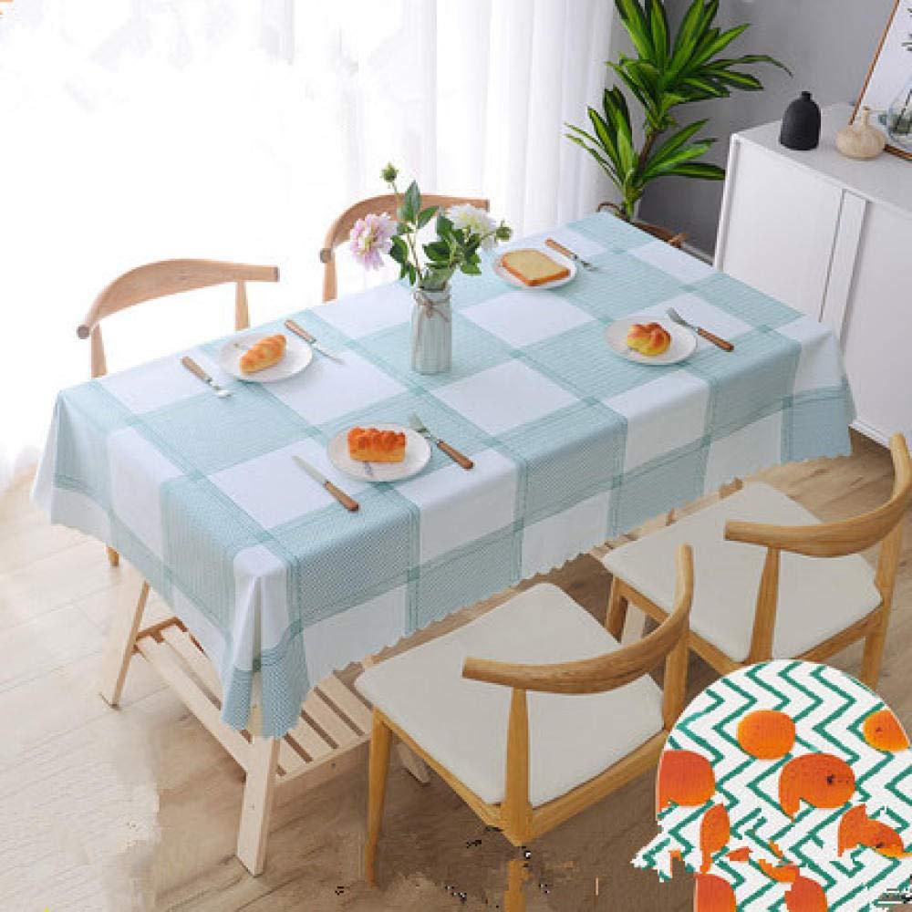 WJJYTX Wachstuch tischdecke, große abwischbare PVC-Vinyl-Tischdecke, die Küchentisch-Abdeckungs-Schutz-Blatt Nordic @ 140 * 180 speist