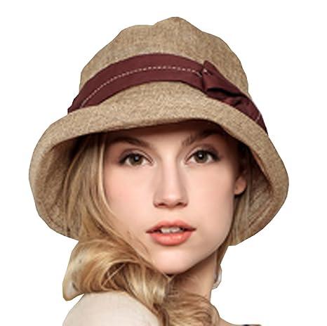 1edac698 Supergirl Women Hat Crimping Brim Linen Cap Sun Hats Summer Topee UPF 50+ Beach  Hats Beige at Amazon Women's Clothing store: