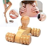 wenbest Car Roller Wooden Massage Tools Reflexology Hand Foot Back Body Therapy Relaxing Massager (Wooden Massage)