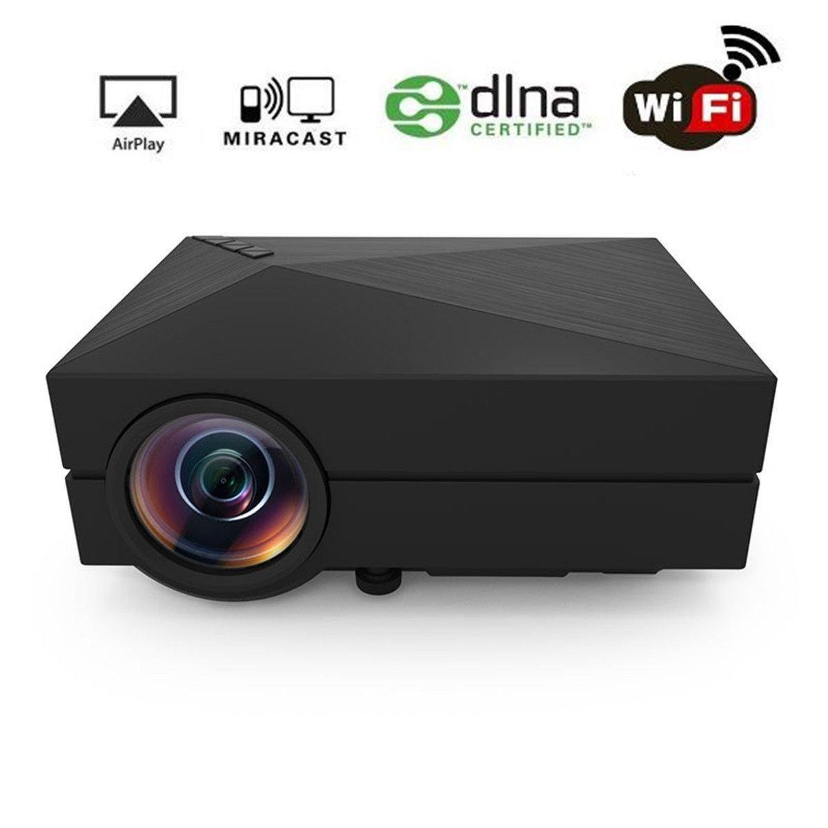 Wifi Projector, huiheng gm60 a Wireless Projector Mini LED ...