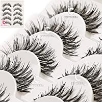 ICYCHEER Pro Makeup 5 Pairs False Eyelashes Eye Lashes Extension Natural Look Ultra Long Thick Lashes Handmade Party