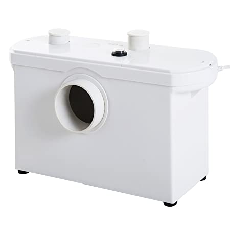 HOMCOM Hebeanlage Fäkalienpumpe Abwasserpumpe Haushaltspumpe für WC Dusche, 600W, 51x21x31cm