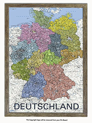 Amazon.com: Laminated Posters Framed - Deutschland - Map Of Germany ...