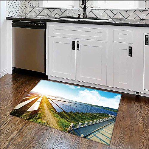 Dual Surface Non Slip Rug Pad photovoltaic panels for renewable electric production navarra aragon spain for Living Room Dining Room Family W30'' x H18'' by also easy