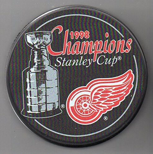 - Detroit Red Wings 1998 Stanley Cup Champions Official NHL Puck + FREE Puck Cube