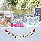Engaged Banner Wedding Party Bunting Garland