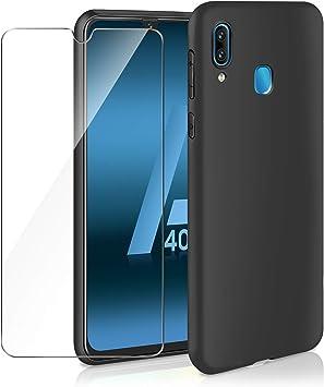 ivencase Funda Samsung Galaxy A40 & Cristal Templado, Carcasa ...