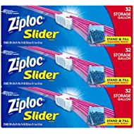 Ziploc Gallon Slider Storage Bags, 32 ct (Pack of 3) 96 total bags