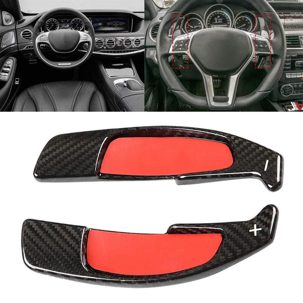 Paddle Extension Shifter 2pcs Carbon Fiber Paddle Shifter Extension for AMG