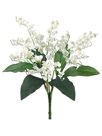Amazon lily of the valley bouquet sprays silk wedding flowers lily of the valley bouquet sprays silk wedding flowers centerpieces bridal decor mightylinksfo