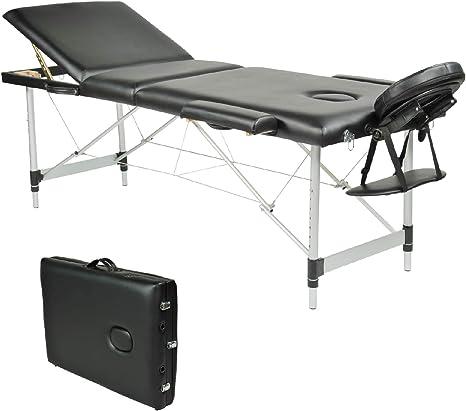 Lettino Massaggio Portatile In Alluminio.Wellhome Lettino Da Massaggio 3 Zone Alluminio Pieghevole