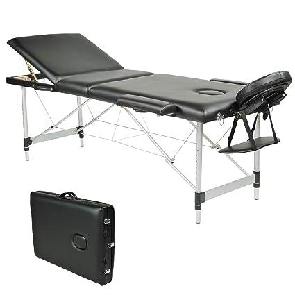 Lettino Pieghevole Massaggio.Wellhome Lettino Da Massaggio 3 Zone Alluminio Pieghevole Portatile Lettini Massaggi Professionale Tavolo Da Massaggio Tattoo Fisioterapia Con Borsa