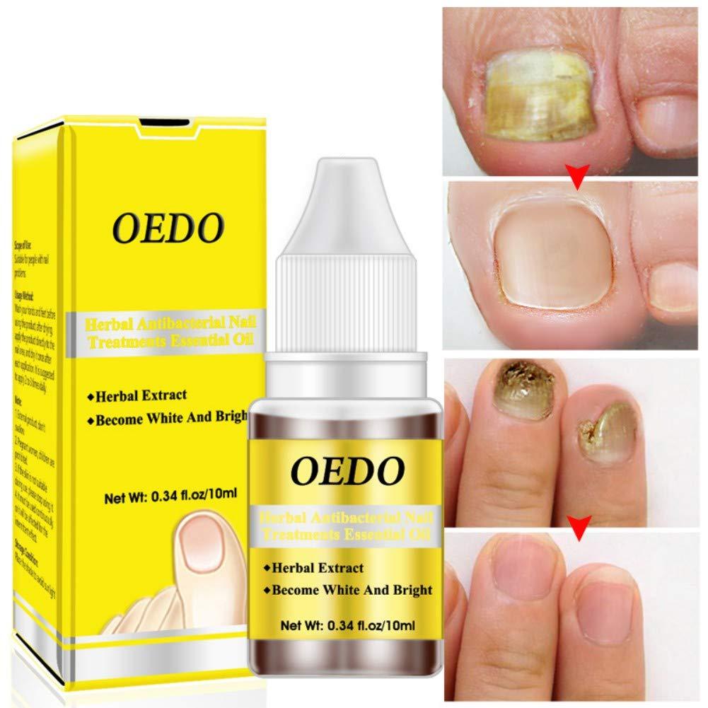 yiitay Nail Treatment Essence Nail Whitener Toe Nail Fungus Removal Herbal Ginseng Antibacterial Nail Essential Oil Onychomycosis Nail Repair Feet Care 10ml