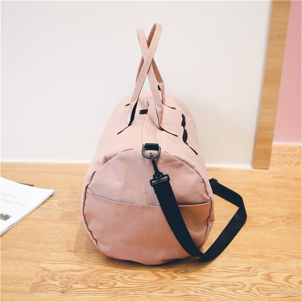 Female Handbag Luggage Short Travel Bag Ybriefbag Unisex Canvas Travel Bag Korean Version Portable Waterproof Fitness Bag Simple Travel Bag Large Capacity Vacation
