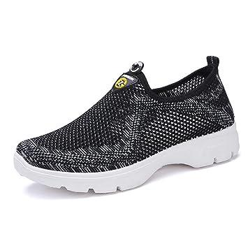 Oudan Zapatillas de Running para Mujer, Zapatos de Baile Coreanos Antideslizantes, Transpirables y Antideslizantes