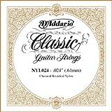 D\'Addario NYL024 Rectified Nylon Classical Guitar Single String ,.024