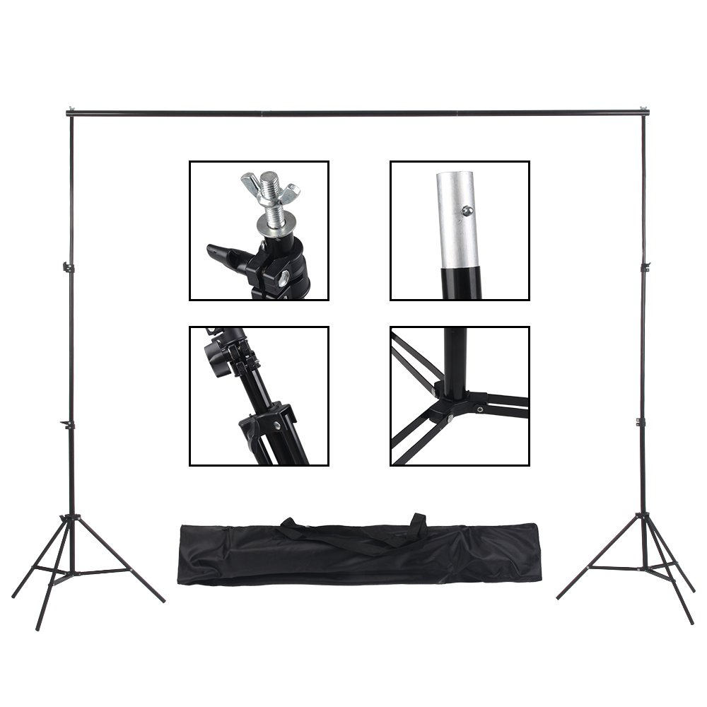 Upland 33-Inch 2 Umbrella Lights with Backdrop System, for Photo Photography, Video Studio Lighting, 1 Backdrop Support Stand (6.6x6.6 Feet), 3 Backdrops (5.4x 10 Feet) by Upland (Image #8)
