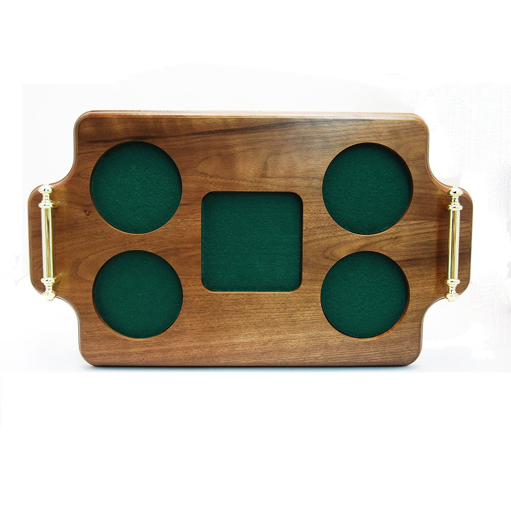 Decanter Set Wood Serving and Presentation Tray (Square decanter space) Crystalize SquareWoodTray