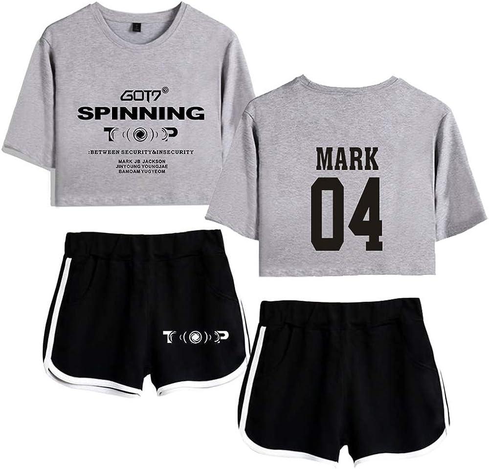 Enjoyyourlife KPOP GOT7 Camiseta Keep Spinning Crop Top & Short ...