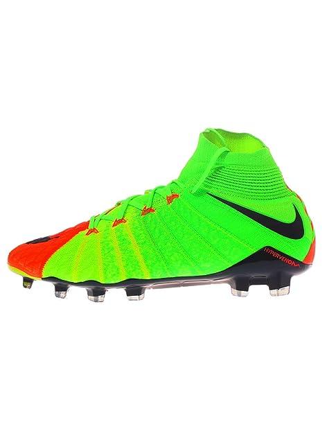 Nike Hypervenom Phantom III Dinámica del Hombre Fit FG Electric Verde Negro Hyper  Naranja Zapatos de fútbol  Amazon.es  Zapatos y complementos 1b9b73367c300