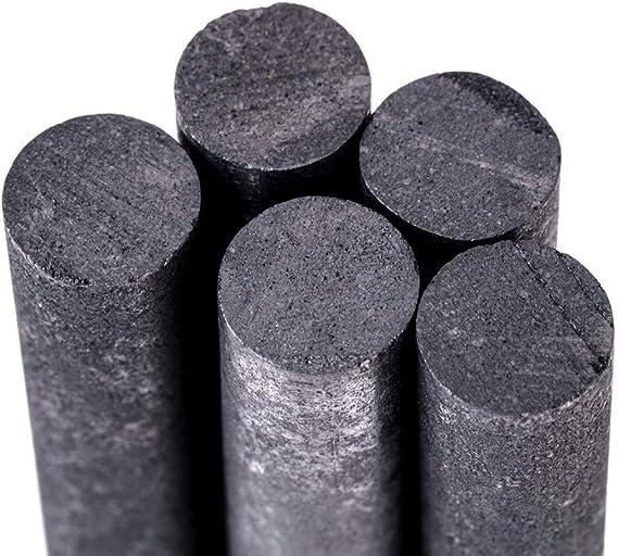 Oulensy 5pcs Verge Noire 99,99/% /électrodes de Graphite Cylindre Rods Barres 100x10mm pour Les Outils de lindustrie