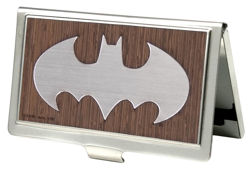 Buckle-Down Business Card Holder - Batman Marquetry Black Walnut/Metal - Small