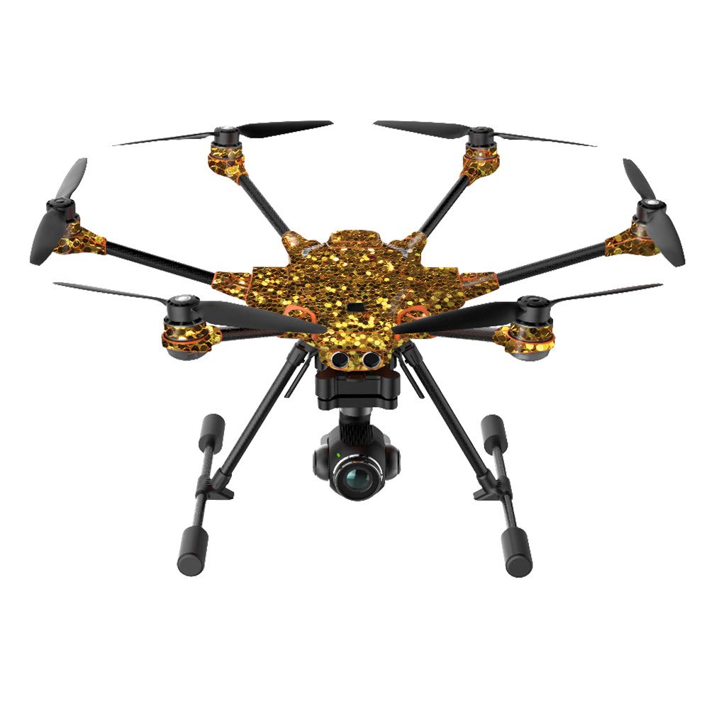 MightySkins Skin Compatible with Yuneec H520-G Quadcopter Drone - Gold Dazzle | Protective, Durable, and Unique Vinyl Decal wrap Cover | Easy to Apply, Remove, and Change Styles | Made in The USA