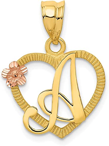 14ky Casted Initial T Charm 14 kt Yellow Gold
