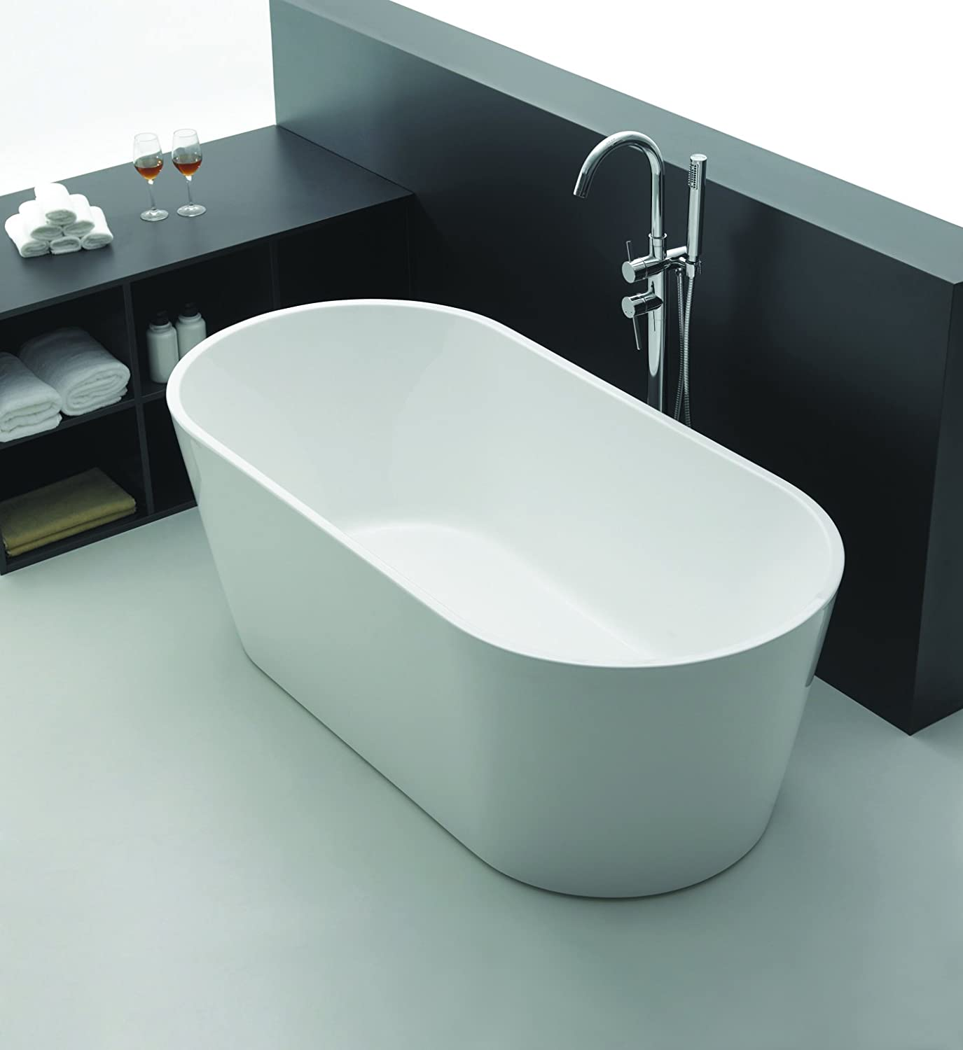 Empava A1507W Luxury Modern Bathroom Freestanding Bathtub - - Amazon.com