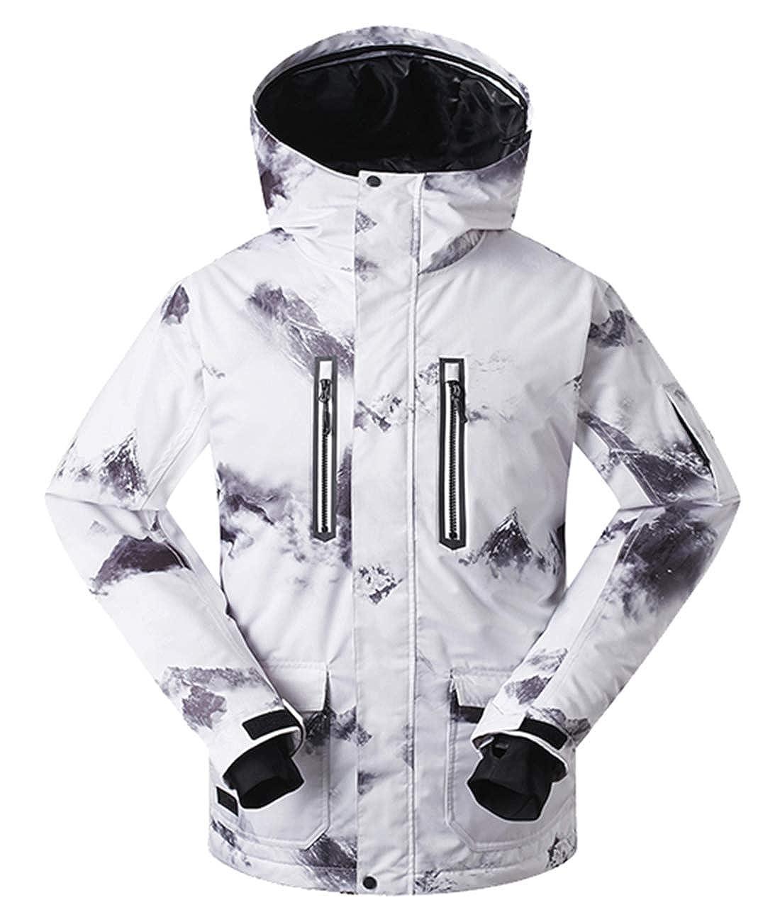 Image of APTRO Men's Bright Colored Insulated Waterproof Windproof Ski & Snowboard Jacket