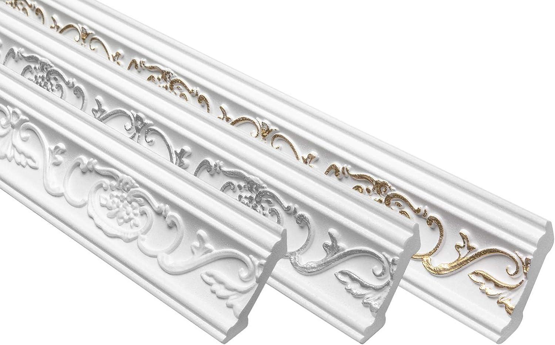 B-6/Gold E-24/Corner Profiles Polystyrene Stucco Decorative Furnishing 53x53/mm