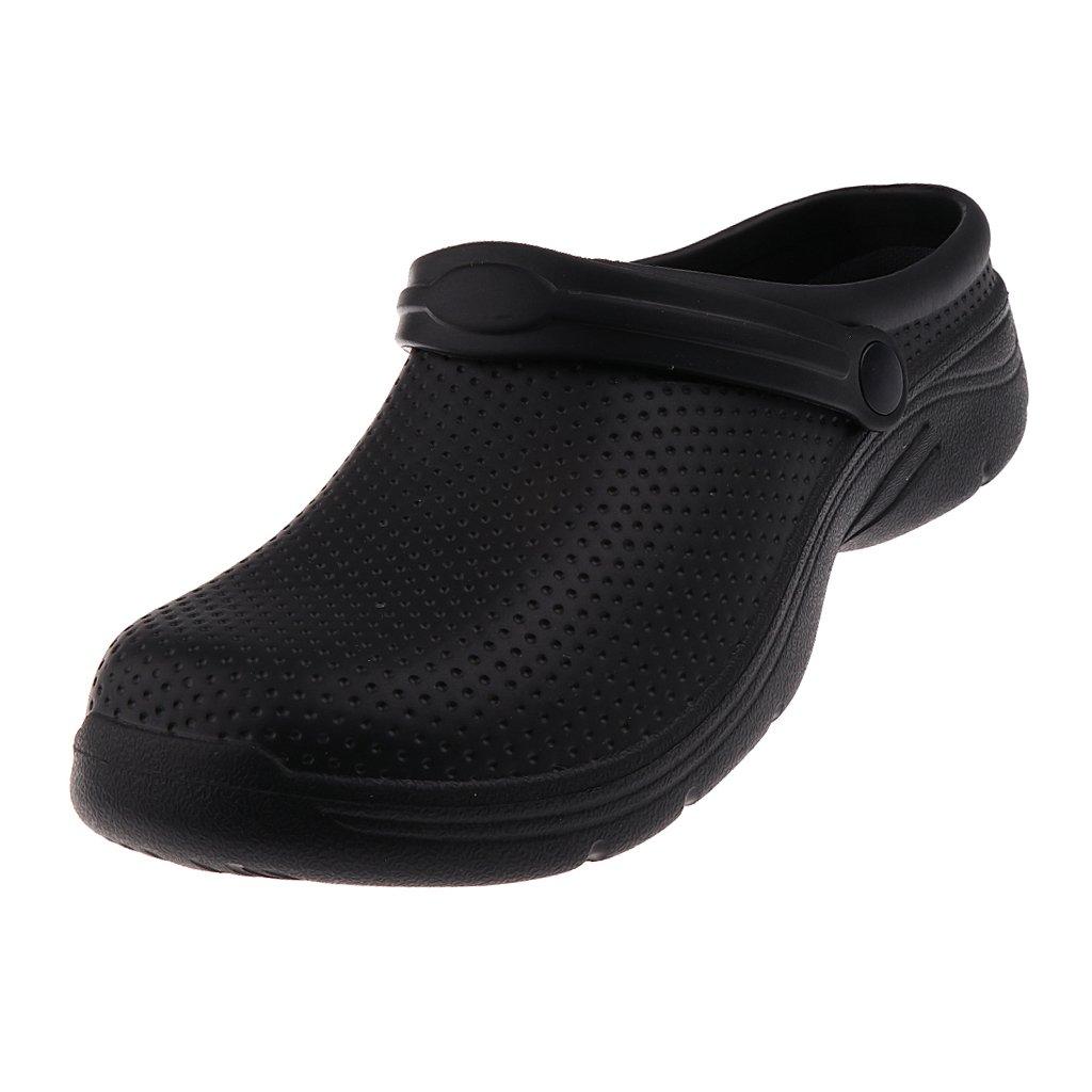 D DOLITY Zapatos Antideslizantes Zueco de Cocineros Mocasiones Calzado Plano para Estar por Casa Baños Playa