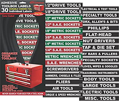 Tool Organizer Labels